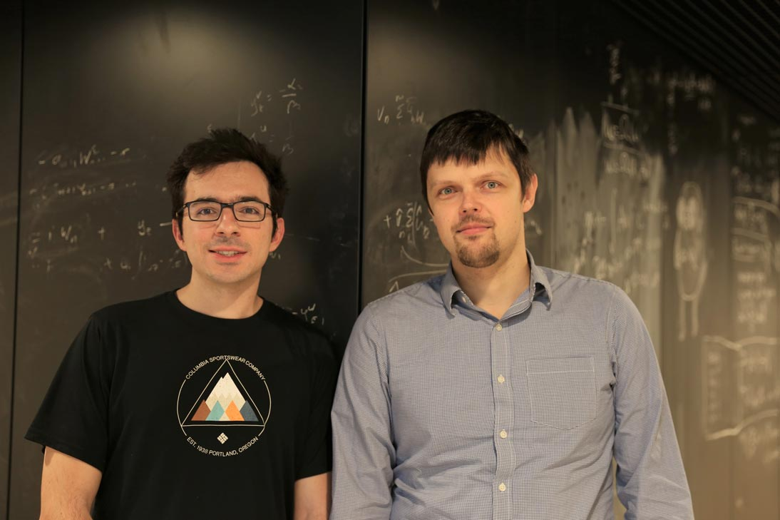 IST Austria Professor Maksym Serbyn and postdoc Alexios Michailidis. © IST Austria