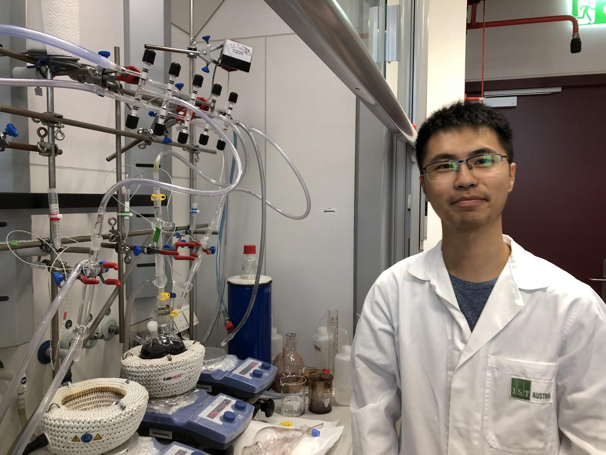 IST Austria postdoc Cheng Chang (Ibáñez group)