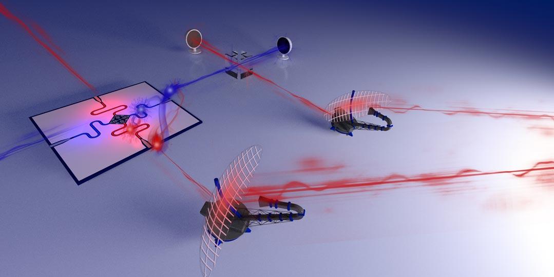 Illustration of a quantum radar prototype. © IST Austria/Philip Krantz