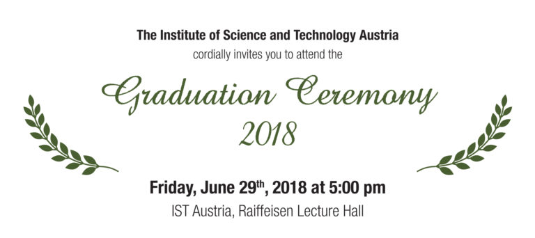 Event: Graduation Ceremony 2018 on Friday, June 29th, 2018