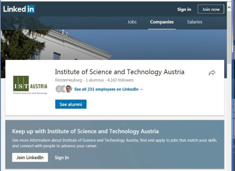 IST Austria Alumni on LinkedIn