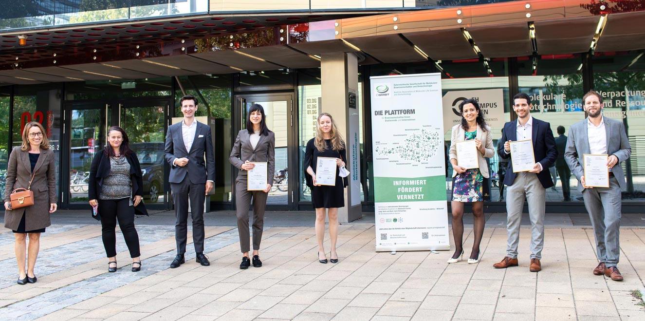 Winners of the ÖGMBT PhD Award 2020. © ÖGMBT