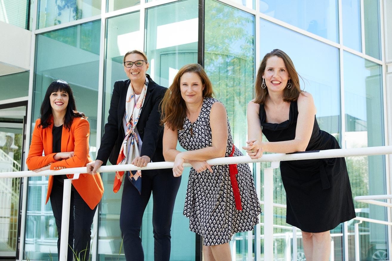 Das Team von The STEM fatale Initiative [Photo: Rafaela Pröll] v.l.n.r.:  Nicole Amberg, Lisa Cichocki, Melissa Stouffer, Angela Bitto-Nemling