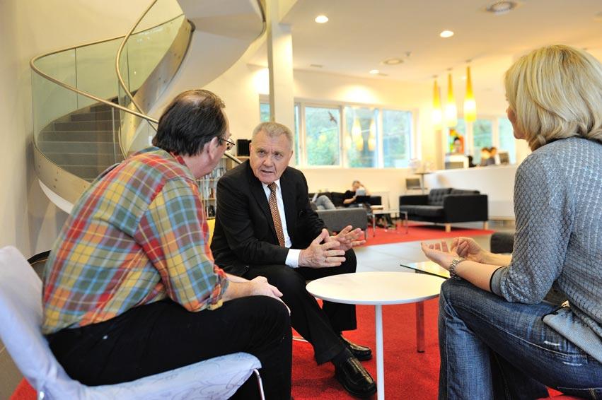 ERC President Bourguignon visits IST Austria