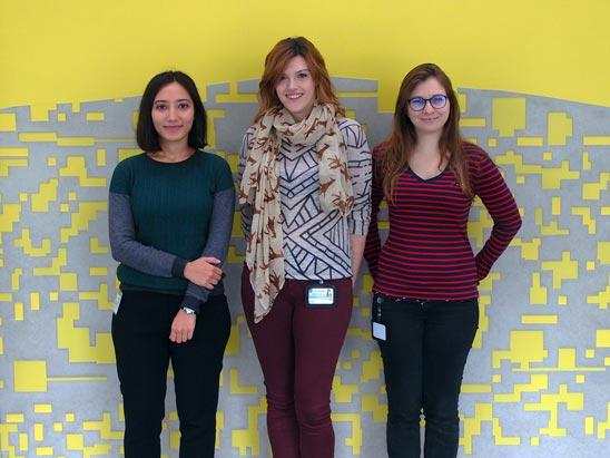 Photo of Feyza Nur Arslan, Matilda Peruzzo, and Priscila Pichani Hirschfeld / © IST Austria