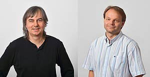 Herbert Edelsbrunner und Jiří Friml 2014