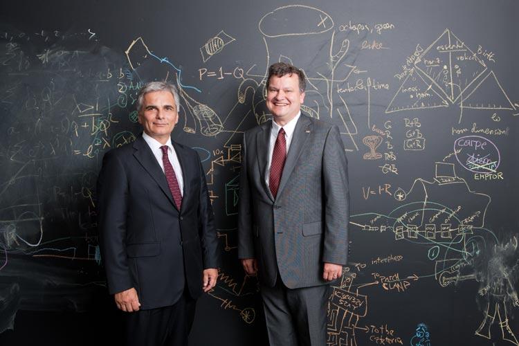 Prime Minister Faymann and IST President Henzinger.