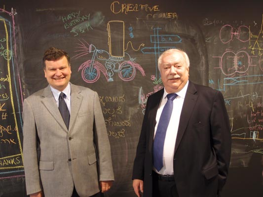 Mayor Michael Häupl and IST President Henzinger