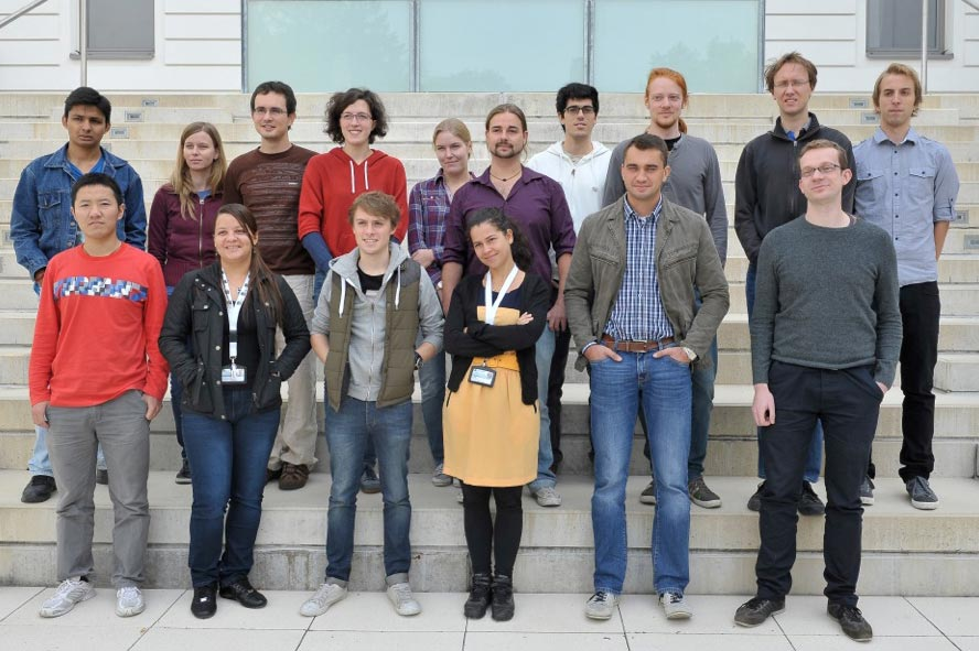New PhD students arrive on campus 2012 IST Austria