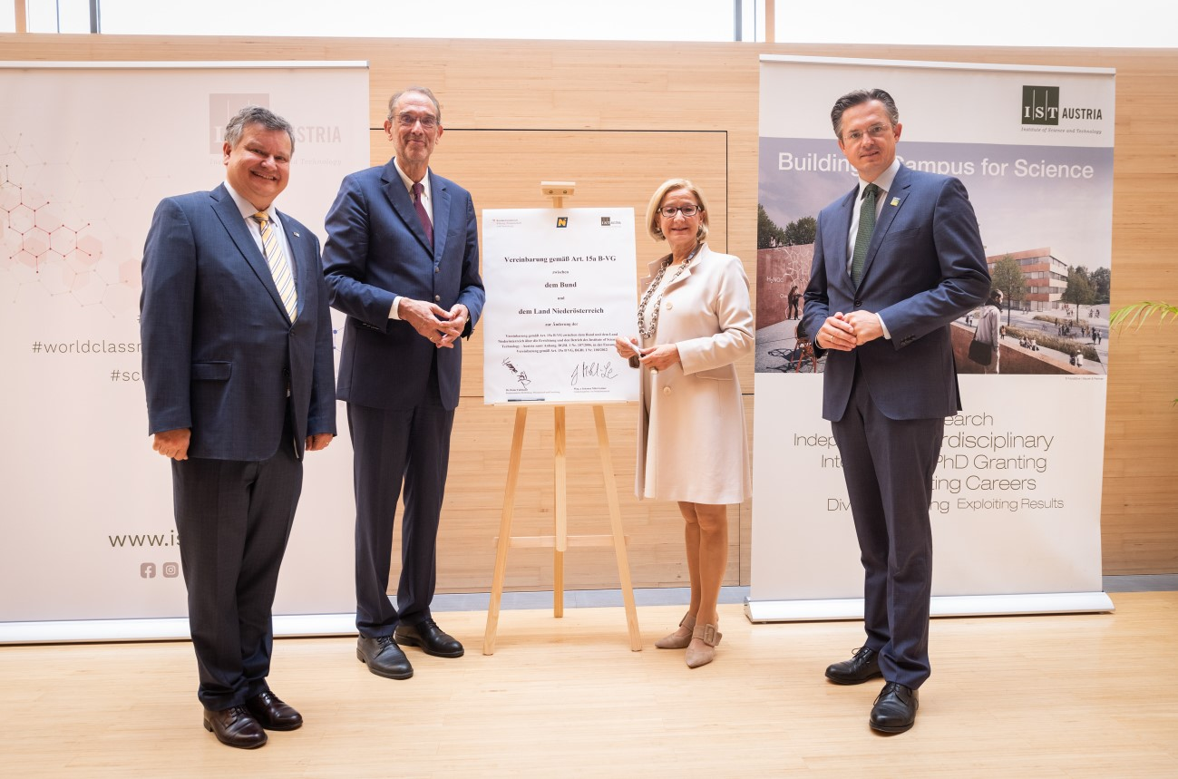 15a-Vereinbarung sichert die Finanzierung des IST Austria bis 2036